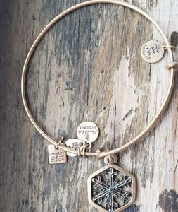 Alex and Ani Gold Snowflake Bracelet